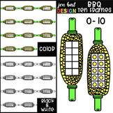 Summer BBQ Ten Frame Clip Art: Corn on the Cob 0-10 {jen h