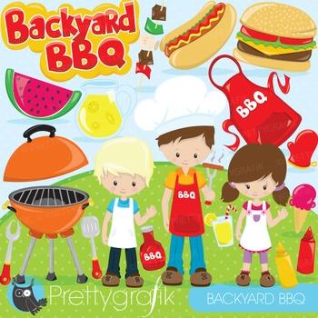 Summer BBQ clipart commercial use, graphics, digital clip art - CL871