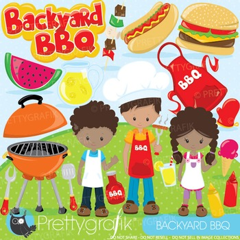 Summer BBQ clipart commercial use, graphics, digital clip art - CL892
