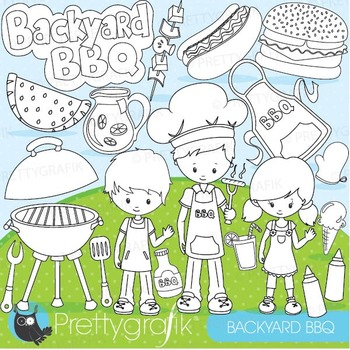Summer BBQ stamps commercial use, vector graphics, images - DS871