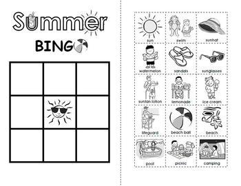Summer BINGO Activity!
