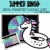 Summer BINGO Google Slides & PPT Distance Learning