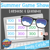 Summer BOOM Cards™ - Language & Grammar - Game Show for Elementary