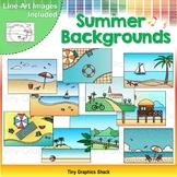 Summer Background Clip Art