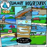 Summer Background Scenes Clip Art - Chirp Graphics