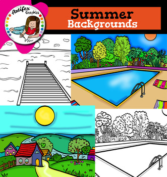 Summer Backgrounds Clip Art
