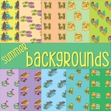 Summer Backgrounds Clip Art Commercial Use O.K.