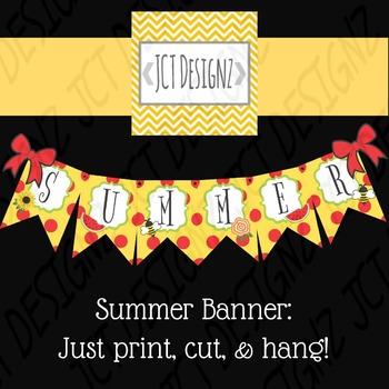 Summer Banner: Just print, cut and hang!