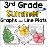Summer Bar Graphs, Picture Graphs, and Line Plots 3rd Grade
