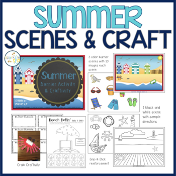 Summer Barrier Activity & Craftivity for Speech and Language Development