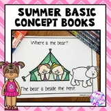 Basic Concepts Speech Therapy (The Beach, Camping, Gardening and a Carnival)