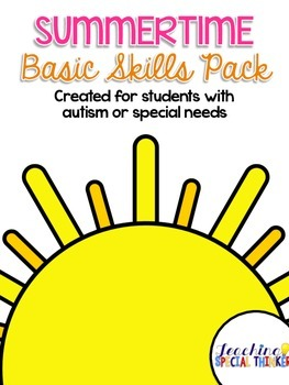 Summer Basic Skills Activity Pack for Students with Autism