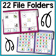 Summer Basic Skills File Folder Activities for Special Education and Autism