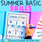 Summer Basic Skills Worksheets | Preschool Pre-K Kindergarten