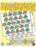 Summer Beach ABC Match-up (Sensory Bin Mat)