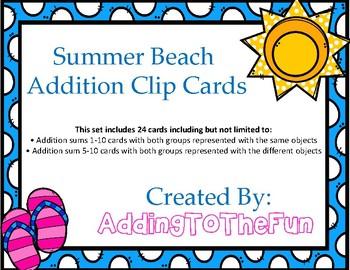 Summer Beach Addition Clip Cards