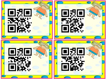 Summer Beach Addition Facts QR Code (Common Core)