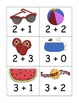 Summer Beach Addition and Subtraction to Five Game and Board
