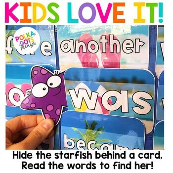 Summer Beach Alphabet and Sight Word Game
