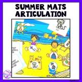 Summer Beach Articulation Dough Smash Mats
