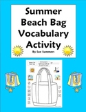 ELL/ESL English Summer Beach Bag Sketch and Label Vocabulary Activity