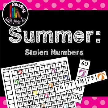 Summer Beach Balls Missing Stolen Numbers Sense