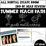 Summer Beach Bash DIGITAL Escape Room (4th Grade Math Review)