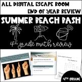 Summer Beach Bash DIGITAL Escape Room (4th Grade Math Review)