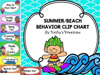 Summer/Beach Behavior Clip Chart