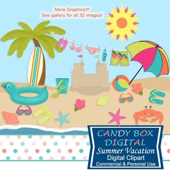 Summer Beach Clip Art