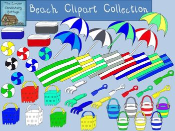 Summer Beach Clip Art Collection {Personal and Commercial Use}