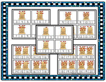 Summer Beach Counting 1-20 (Clip Cards)