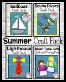 Summer Craft & Writing Bundle: Boat, Swimmers, Divers, Flip Flops, Lighthouse