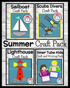 Summer / Beach Craft & Writing Pack: Boat,Swimmers,Divers,