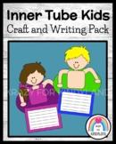 Swimming Kids Craft and Writing for Kindergarten (Summer School, Beach, Ocean)