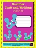 Summer / Beach Craft and Writing for Kindergarten: Flip Flops