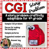 Back to School Craftivity 4th Grade   CGI Story/Word Problem   Multi Step