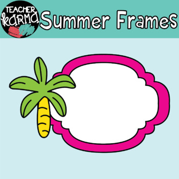 Summer & Beach Frames Clipart