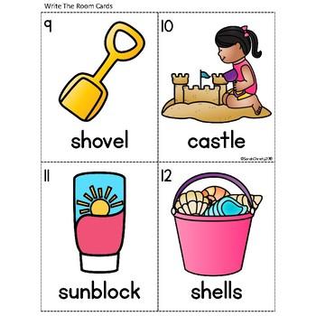 Summer: Beach Fun Write the Room