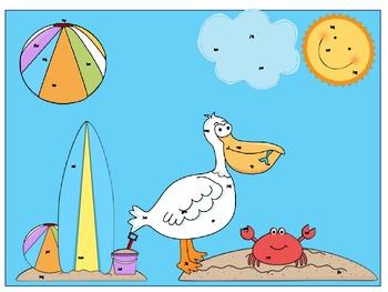 Summer Beach Math & Literacy Pack Common  Core Aligned