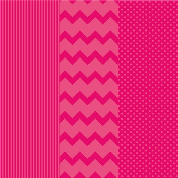 Summer Beach Party Digital Background Papers in Chevron, Polka Dots, and Stripes