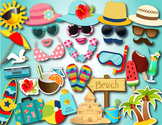 Summer Beach Party Photo Booth Props Beach Vacation Summer