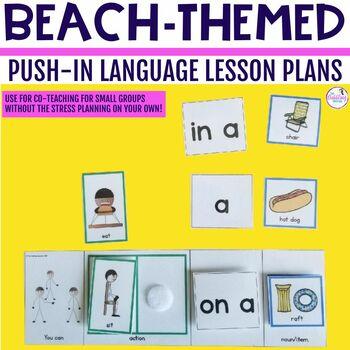 Summer Beach Push-In Language Lesson Plan Guides