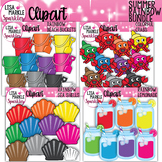 Sea Shell Crab Bucket Lemonade Clipart Summer Rainbow BUNDLE
