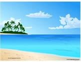 Summer/Beach Themed Barrier Game and parent instructional handout