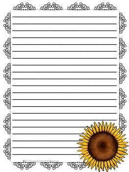 Summer / Beach Themed Stationery Paper