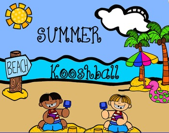 Summer Beach Trip Kooshball Game for SMARTboard