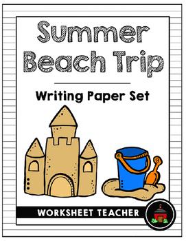 Summer Beach Trip Writing Paper Set