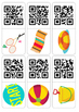 Summer (Beach) QR dominoes