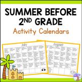 Summer Activity Calendars - Second Grade